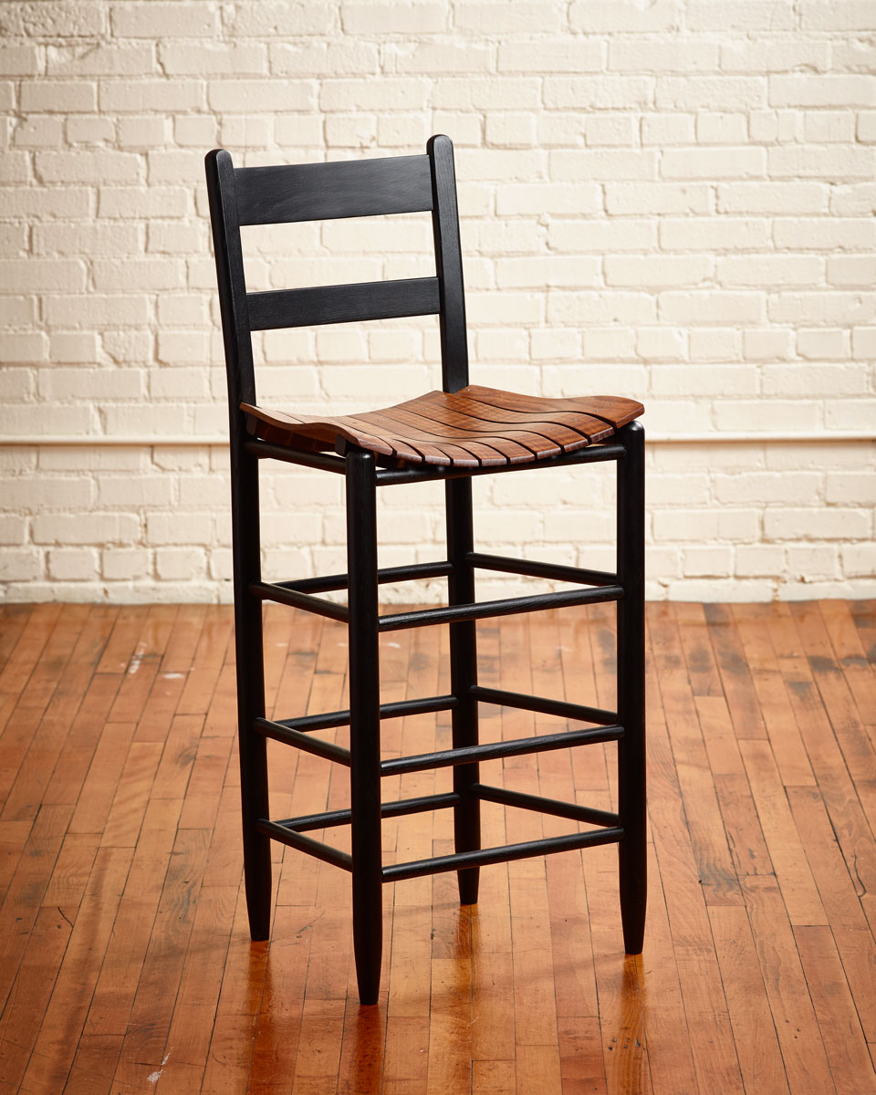 1930 Cottage Ladder Back Stool