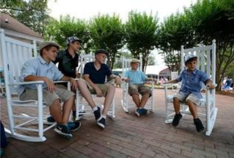 Troutman Rocking Chairs Greet U.S. Open Visitors