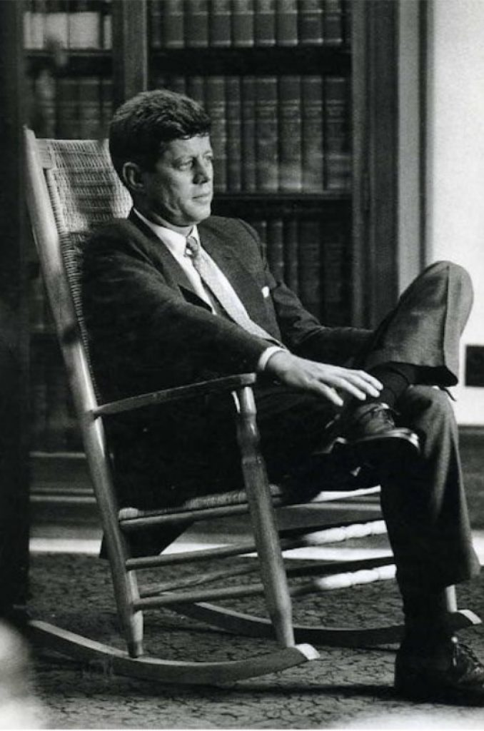 JFK in Kennedy Rocker